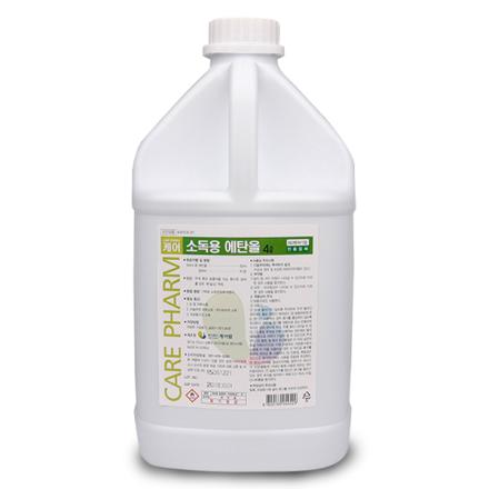 [케어팜] 소독용에탄올 (4L, 83%, 1개)
