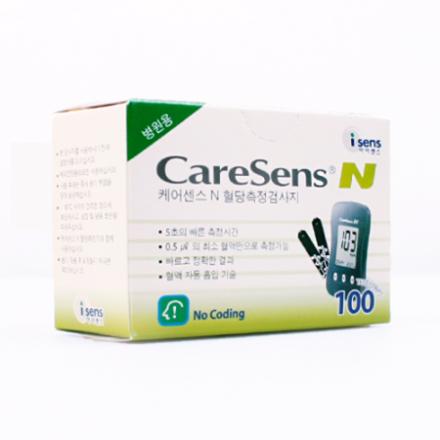 [아이센스] 케어센스N(혈당측정검사지) (100매/PACK, 혈당스트립/시험지)