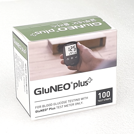 [오상헬스케어] 글루네오 플러스(혈당측정검사지) (100매/PACK, 혈당스트립/체외진단검사)