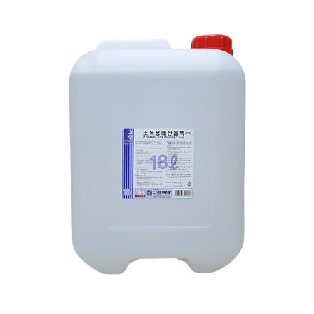[그린제약] 소독용 에탄올액 (18L, 83%, 1개)