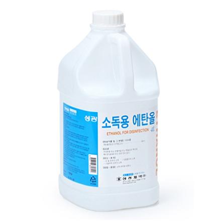 [성광제약] 소독용 에탄올 (4L, 1개)